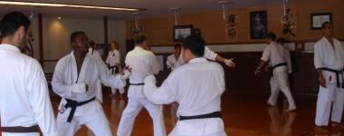 Jiyu Kumite practice at Garden Grove